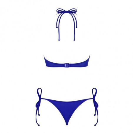 Bikini string 2 pièces noir ou bleu Costa Rica - Obsessive