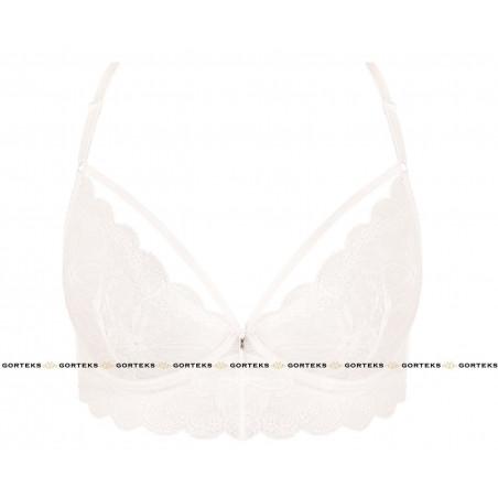 Le soutien gorge blanc charlize soft effet bralette de chez gorteks lingerie