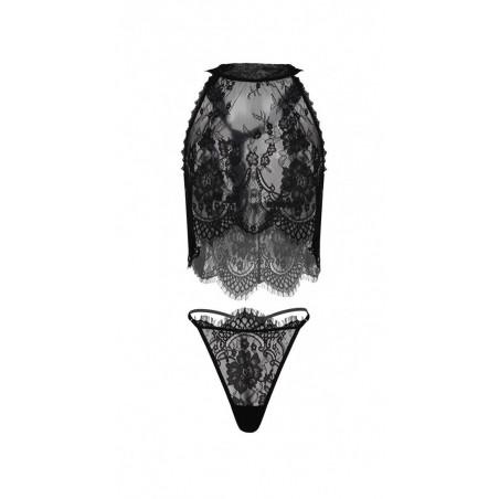 L'ensemble sexy en dentelle noir Olimpia - Dkaren