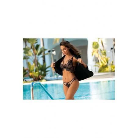 Le string en dentelle noire V-9508 - Axami lingerie - lingerie sexy