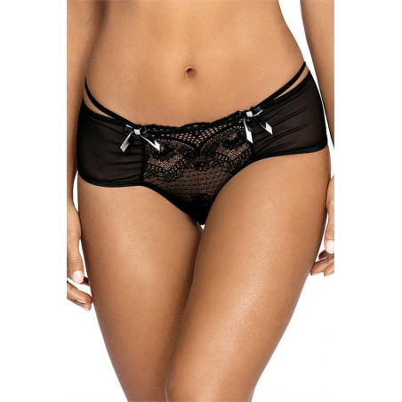 La culotte ouverte noire V-9483 - Axami - lingerie sexy