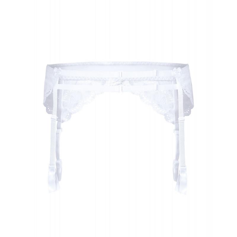 Porte jarretelle blanc Lagerta - Roza Lingerie