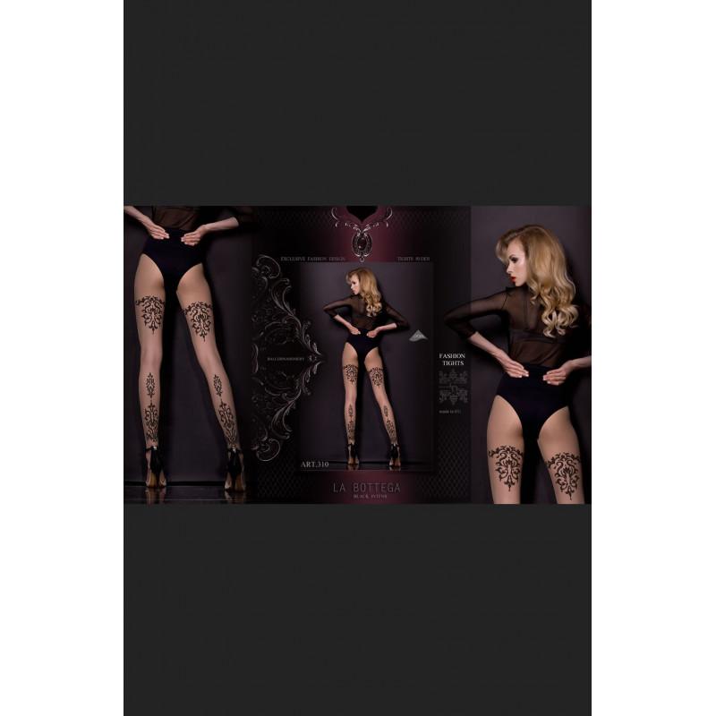 Les collants fantaisies couleur chair  310 - Studio collants Ballerina - lingerie féminine