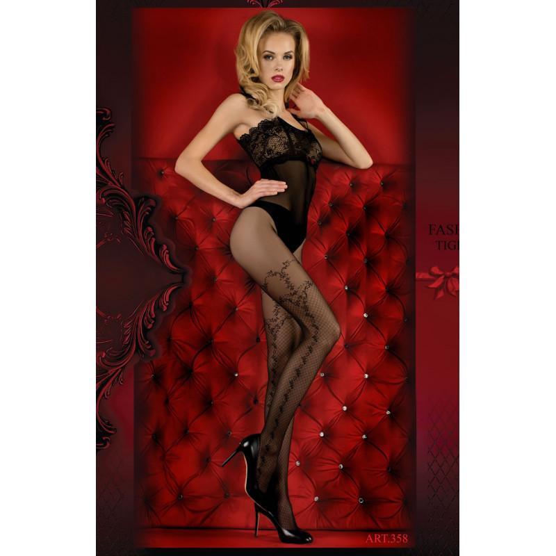 Collant fantaisie noir 358 - Studio collants - lingerie féminine