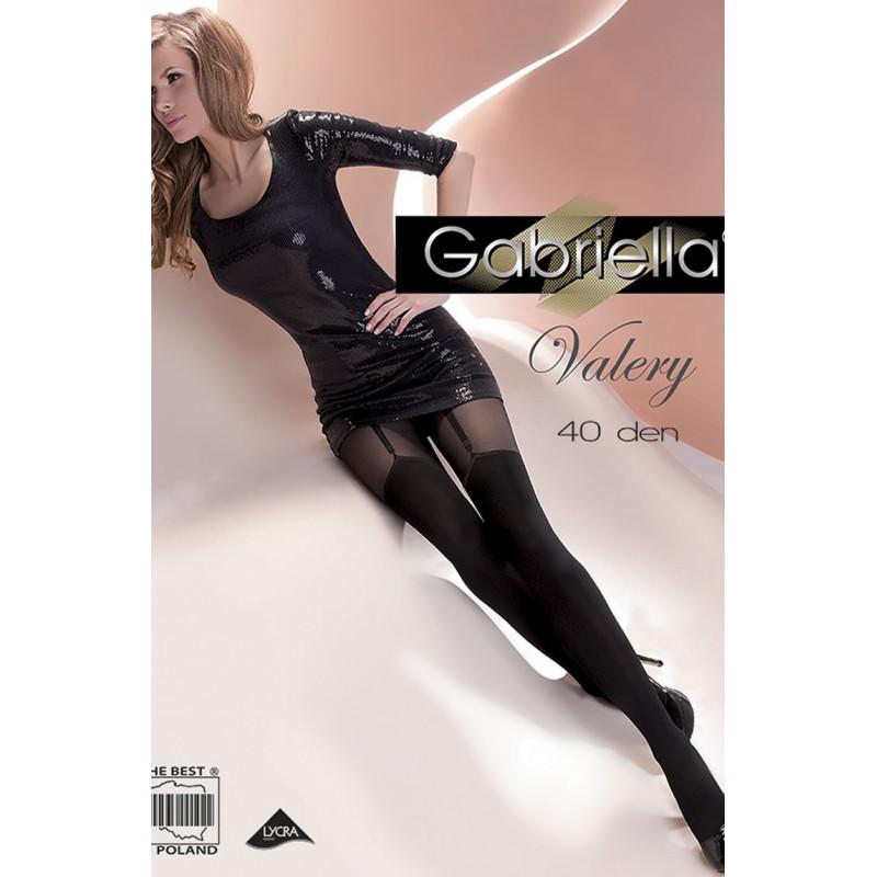 Collant fantaisie noir Valery - Gabriella - lingerie féminine
