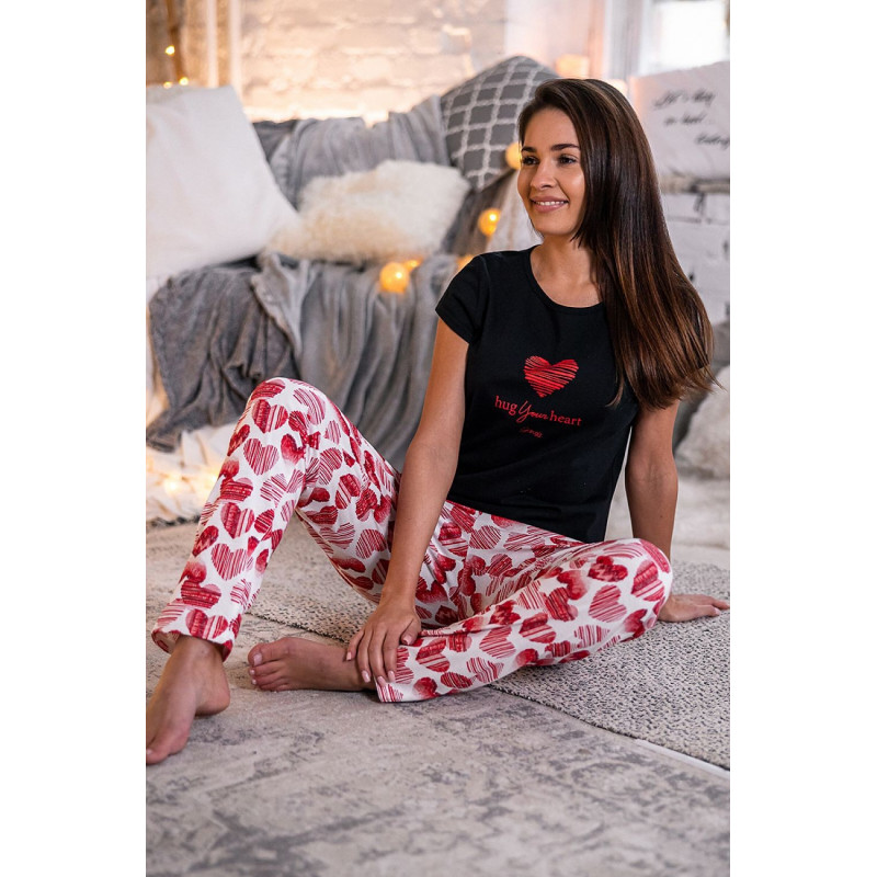 le pyjama Hug rouge et noir - Sensis
