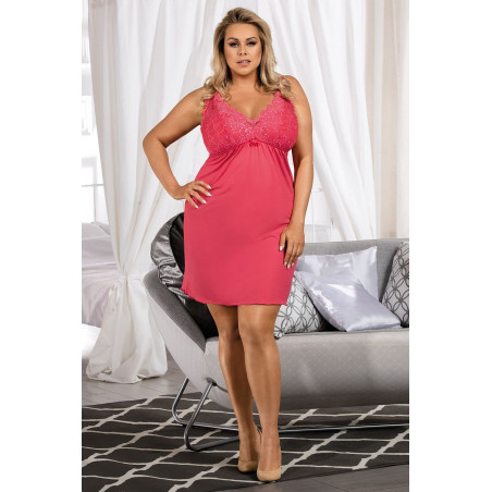 Chemise de nuit grande taille - rose - Lucia - Donna