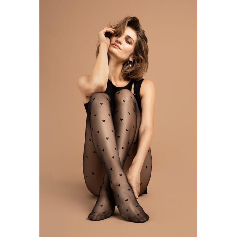 Collant noir pour femme 15 DEN - modèle love potion - Fiore