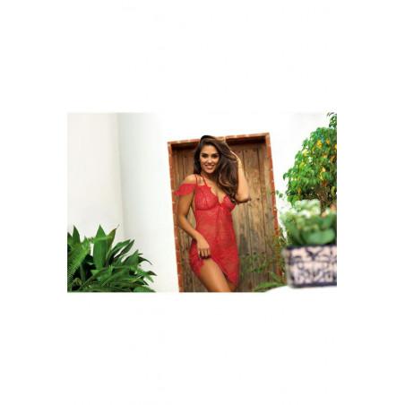 La nuisette sexy rouge V-9589- Axami