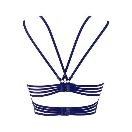 Le soutien-gorge bleu demi-corset push-up V-9611 - Axami