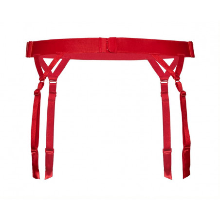 Porte jarretelle rouge Cyria - Roza Lingerie