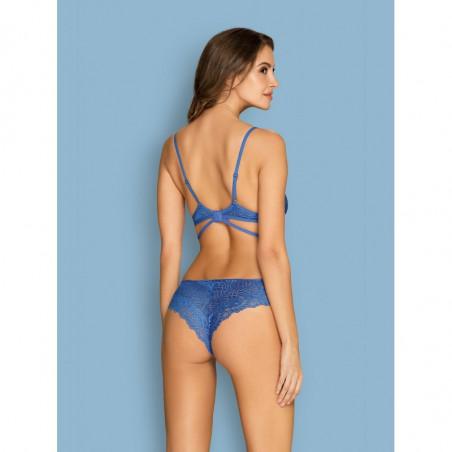 Ensemble sexy en dentelle bleu Bluellia - Obsessive Lingerie