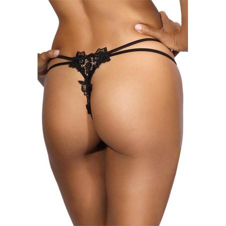 mini string noir V-9668 - Axami