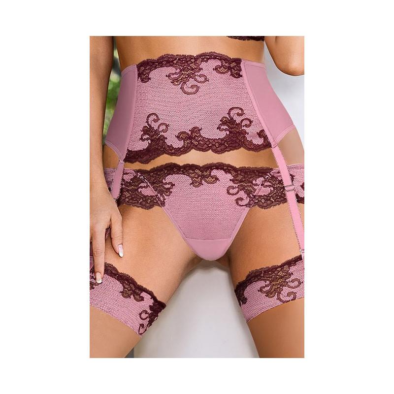 Porte Jarretelle Rose Caryca de chez ROZA lingerie