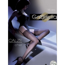 Bas noirs pour porte jarretele modèle 42229 par Gabriella
