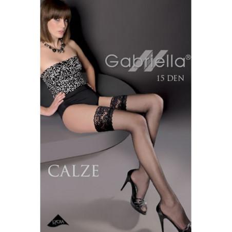 Bas noir autofixant Gabriella emotion classic