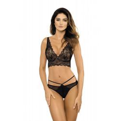 Le push up demi corset noir bralette de chez gorteks lingerie