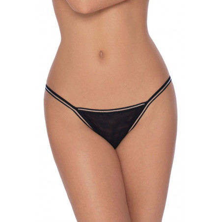 String sexy  noir  Fiona de la marque ROZA lingerie