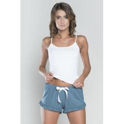 Le short en coton gris de chez italian Fashion