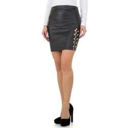 Jupe courte grise foncée pour femme par Daisie