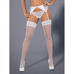Les bas blancs Ethéria par Obsessive lingerie