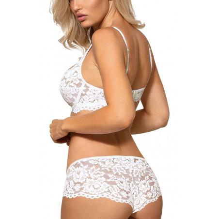 La culotte blanche en dentelle Newia par Roza Lingerie