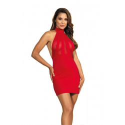 La robe sexy rouge V-9139 par Axami