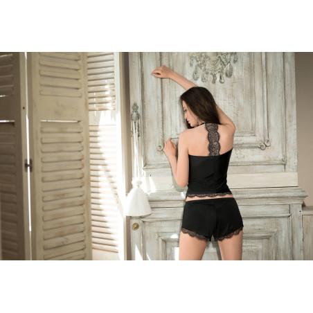 Le short en dentelle noir SIJA par Roza Lingerie