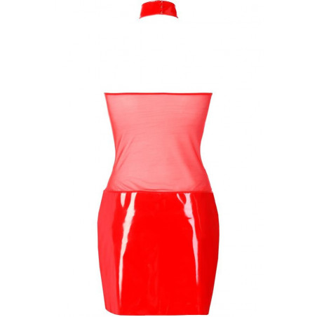 La robe rouge en latex V-9119 par Axami Lingerie