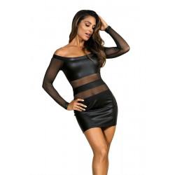 La robe sexy noire V-9309 par Axami Lingerie