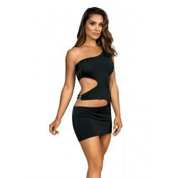 La robe noir moulante V-9239 par Axami Lingerie