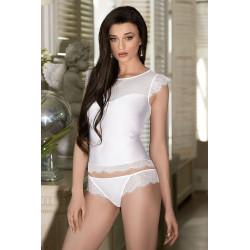 Le top nuisette blanc Erii par Roza lingerie